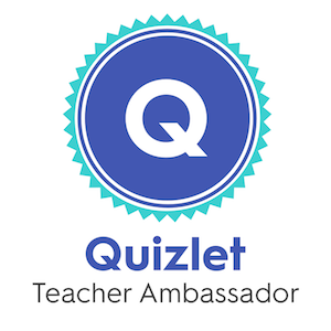Quizlet teacher ambassador badge